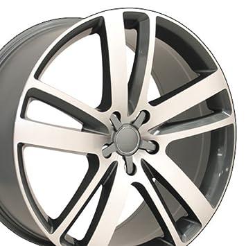 OE Wheels 20 Inch Fits Audi Q7 Volkswagen Touareg Porsche Cayenne Q7 Style  AU20 Gunmetal Machined 20x9 Rim