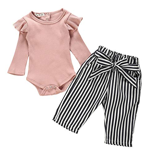 UK Newborn Baby Girl Long Sleeve Romper Jumpsuit Bodysuit Autumn Set Clothes Top