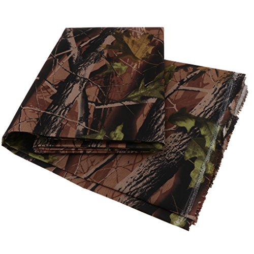Homyl Heavy Duty Thick Camouflage PVC Waterproof Canvas Fabric 600D Outdoor Cover Materials Sold By Metre - 2#, 2 Meters