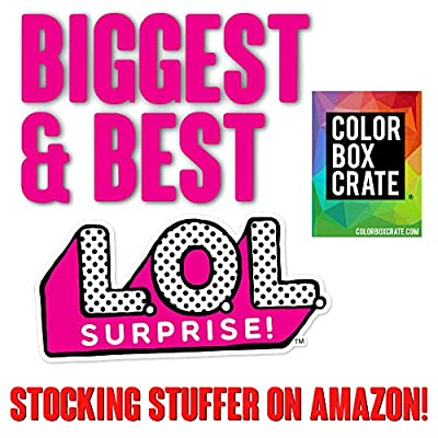 ColorBoxCrate LOL Surprise Stocking Stuffer Coloring Book Toy Set 7 Pack, Includes 3 LOL Surprise Activity Books, Crayons, 330 Stickers, Christmas Candy, Christmas Stocking, Children Ages 3-8