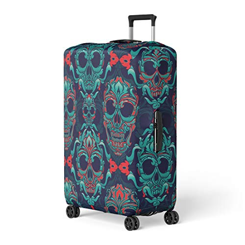 - Pinbeam Luggage Cover Pattern Ornamental Skull Sugar Tattoo Mexican School Old Travel Suitcase Cover Protector Baggage Case Fits 22-24 inches