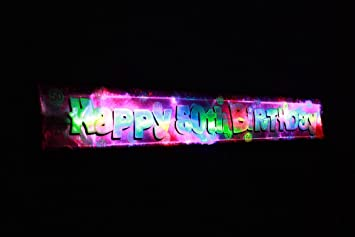 Image Unavailable Not Available For Colour Flashing Pink Happy 50th Birthday Banner Decoration FREE DELIVERY