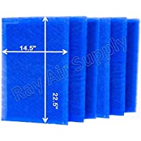 RayAir Supply 16x25 Dynamic Air Cleaner Replacement Filter Pads 16X25 Refills (6 Pack)