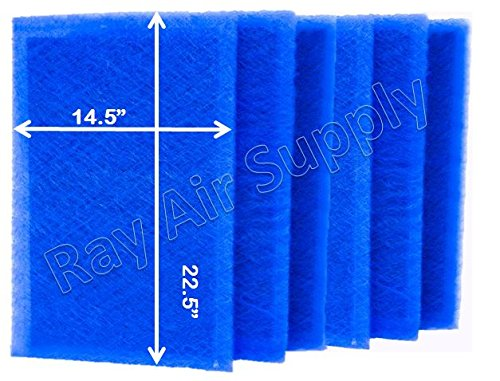 RAYAIR SUPPLY 16x25x2 Dynamic P2000 Air Cleaner Replacement Filter Pads 16x25 Refills (6 Pack) 1625DP2000