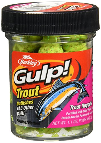 Berkley Gulp Dough Trout Nuggets, Chunky Chartreuse, 1-Ounce