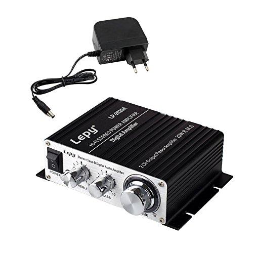 LEPY 2020A HiFi (2x 20 Watt) stereo design versterker voor MP3/mobiele telefoon/DAC zwart