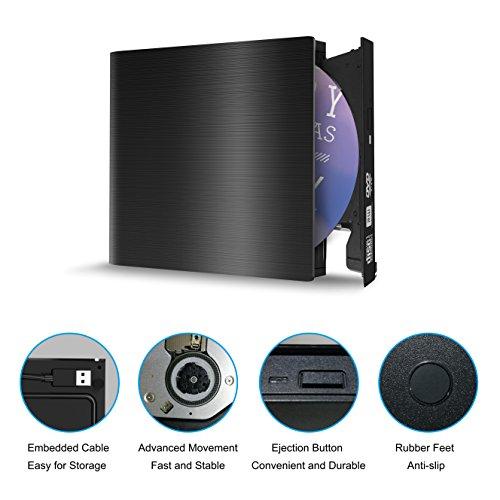 USB 3.0 External CD DVD Drive,Ultra Slim External DVD-RW Superdrive Burner Portable DVD CD Player For PC Desktop Laptop/Windows/Linux/Mac OS by 1898 Animo (Image #3)