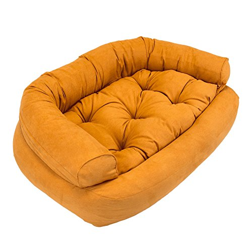 Snoozer Overstuffed Luxury Pet Sofa, Large, Shona Brown Sugar by Snoozer