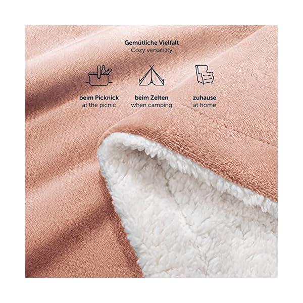 51aNgCtBBbL Blumtal Flauschige Sherpa Kuscheldecke – hochwertige Wohndecke, super weiche Fleecedecke als Sofaüberwurf, Tagesdecke…