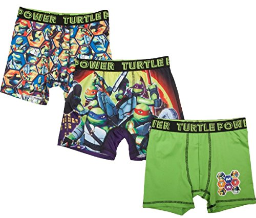 Teenage Mutant Ninja Turtles Action Underwear 3 Pack Boxer Briefs - ()