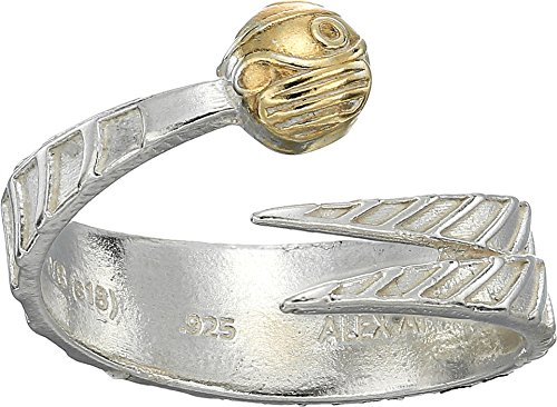 Alex and Ani Women's Harry Potter Golden Snitch Two-Tone Ring Wrap 14kt Gold Plated/Sterling Silver One ()