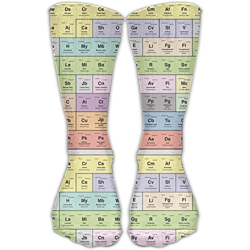 Periodic Table Of Chemical Mens Womens Cozy Cute Athletic Compression Knee Socks For Yoga Hiking Cycling Running - Canada Table Periodic