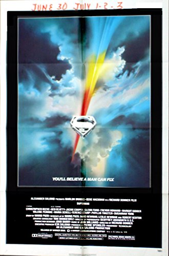 Superman 1978 Authentic, Original 27×41 One Sheet starring Christopher Reeve