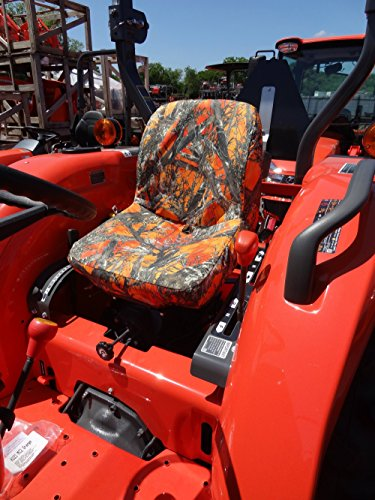 Durafit Seat Covers, Kubota Tractor L3301,L3901,L4701 in Orange Camo Endura  MC2 Orange