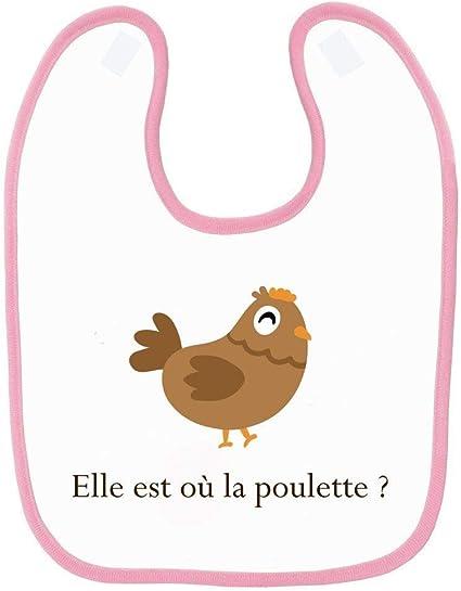Bavoir b/éb/é kaamelott le gras cest la vie Rose