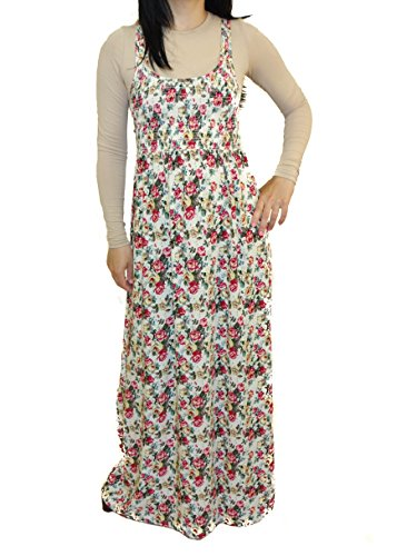 New Look Sleeveless Maxi Summer Dress in Vibrant Prints Cotton Blend High Quality