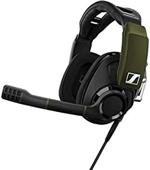 Sennheiser GSP 550 PC Gaming Headset with Dolby 7.1 Surround Sound, Flip-to-Mute microphone, USB connectivity for Dekstop and Laptop compatibility, Open-back ear cups, breathable fabric Headset