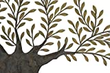 Deco 79 68501 Metal Olive Tree Wall Decor, 94 by 42-Inch, Brown/Golden Green For Sale