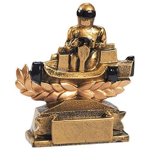Juvale Go-Kart Racing Trophy - Go Cart Car Racing Award, Small Resin Trophy for Tournaments, Competitions, Parties, 4 x 4.5 x 1.5 Inches