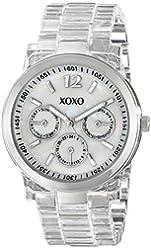 XOXO Women's XO5514 Clear Bracelet with Silver Case Watch