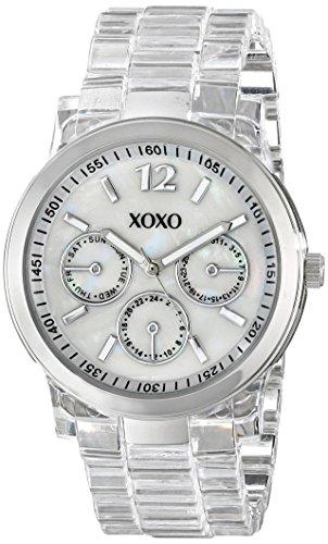 XOXO Women's XO5514 Clear Bracelet with Silver Case Watch ()