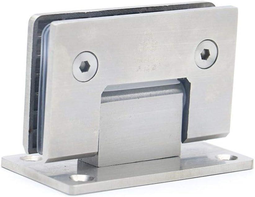90 Ducha grado de abertura 304 bisagras de acero inoxidable de montaje en pared de cristal de la puerta Bisagra for el hogar muebles de baño de hardware