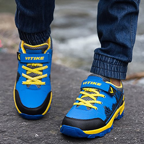 Shoes for Girl Kids 4 Boys Waterproof Hiking Hiking sapphire Sneaker Boot Hiking Littleplum Boots Hqn8qz