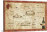 Daphne Brissonnet Premium Thick-Wrap Canvas Wall Art Print entitled Wine Map 48''x32''