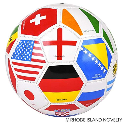 Rhode Island Novelty Full Sized World International Soccer Ball, Mixed