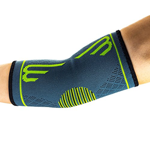 Benmarck Elbow Compression Sleeve, Support Brace, Best for Tennis Golf Weightlifting Men Women, Tendonitis Recovery Wrap by (Fjord Blue, (Sleeve Tennis Shirt)