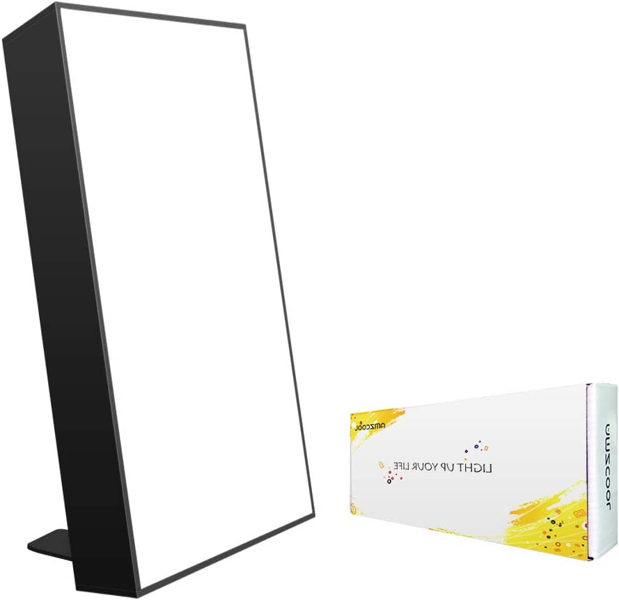 10,000 Lux Happy Energy Light Therapy Simulated Natural Sunlight Full Spectrum LED Lamp Light Box Portable Thin Border Design Aluminum Alloy Material Big Size