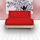 Changing Sofas Complete Double Seater Futon Sofabed, Red