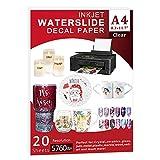 Waterslide Paper-20 sheet Inkjet Water Slide