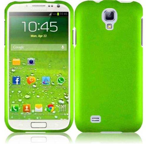 Kaleidio (TM) Hard Snap-on Case for Samsung Galaxy S4 S 4 IV(AT&T, Verizon, T-Mobile, Sprint) - Lime Green (Package Includes Overbrawn Prying Tool & Stylux Stylus)