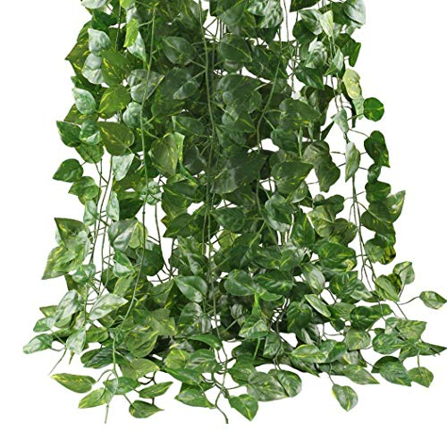 - Medou 12 Pack Total 84FTArtificial Ivy Leaf Garland Plants Vine Hanging ForHome Office Garden Outdoor Wall Greenery Cover Jungle Party Decoration