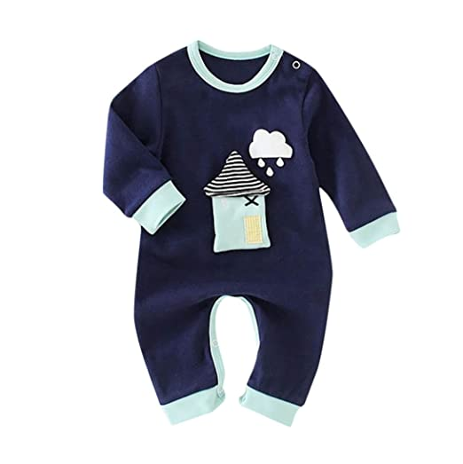 faec99698 DIGOOD Toddler Baby Boys Girls Rainy House Rompers,for 0-24 Months,Children