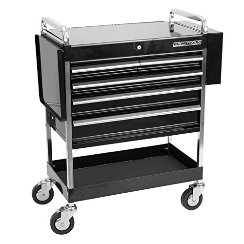 OEMTOOLS 24963  Service Cart with Five Drawers and One Tray by OEMTOOLS