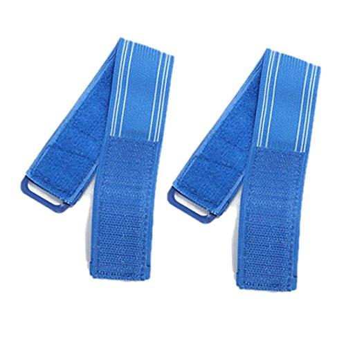 2x Bike Reflective Ankle Leg Bind Trousers Pant Band Clips Strap**