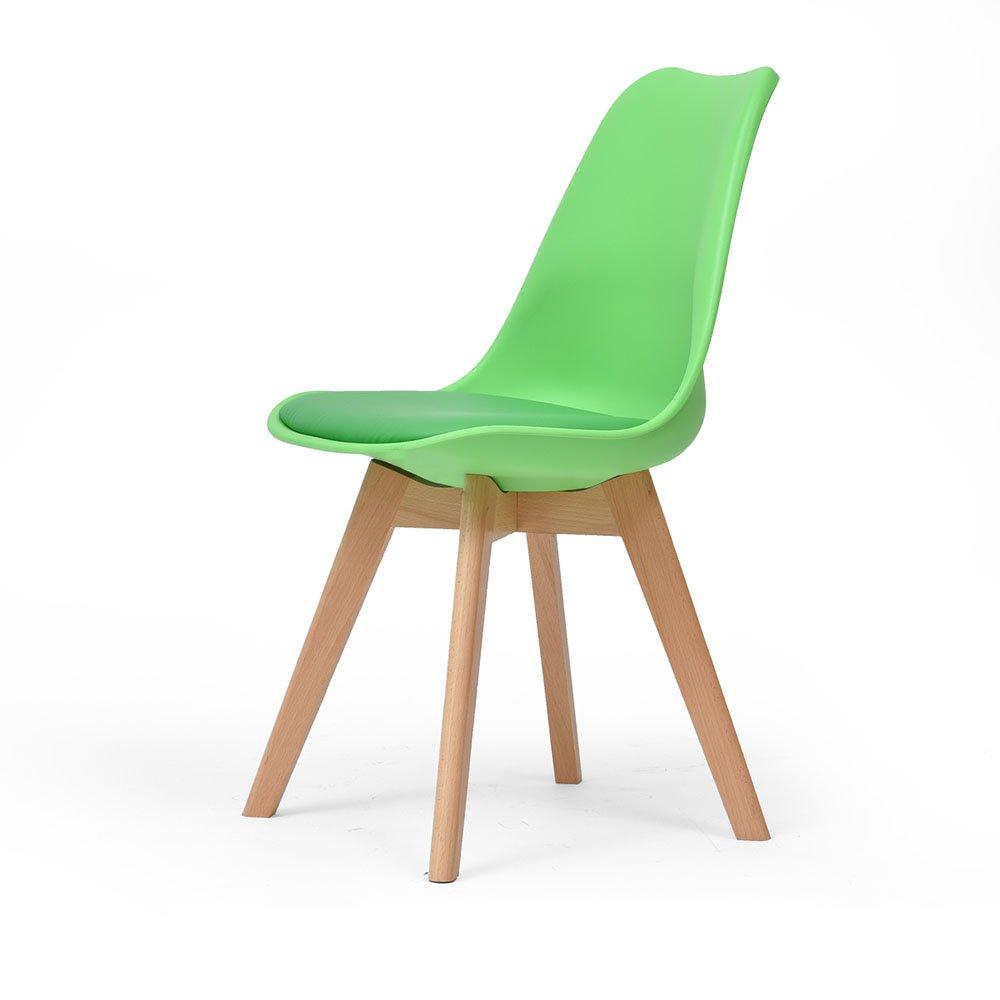YANFEI ソリッドウッドチェアシンプルでモダンな背もたれ掃除が簡単43 * 46CM (色 : 緑) B07D5NQ55L 緑 緑