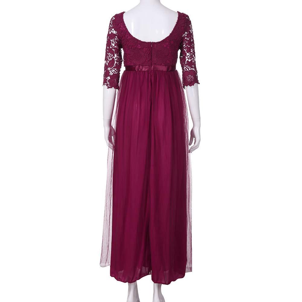 Dragon868 Vestido Largo de Dama de Honor Largo Largo de Noche de Encaje de Gasa de Las Mujeres Vestido de Dama de Honor(Rosa,2XL): Amazon.es: Juguetes y ...