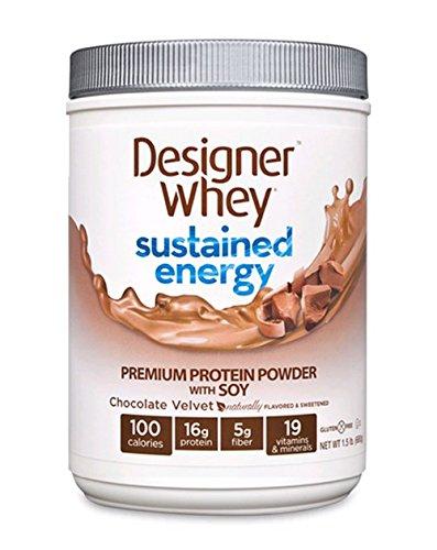 Soutenue Energy poudre de protéine de soja avec Chocolate Velvet 1,50 livres