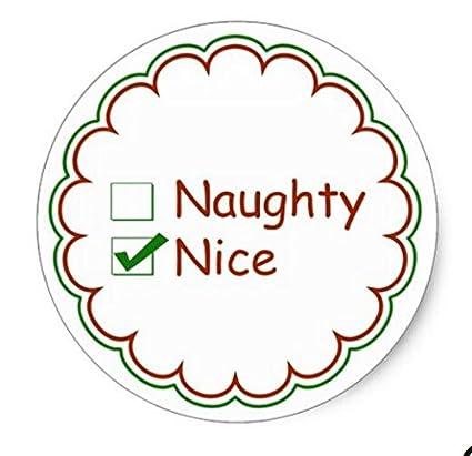 amazon com nice or naughty christmas stickers round christmas