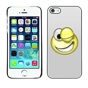 Be Good Phone Accessory // Dura Cáscara cubierta Protectora Caso Carcasa Funda de Protección para Apple Iphone 5 / 5S // 3D Funny Smiley