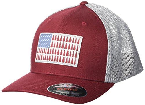 Elements Flex Hat - Columbia Men's Mesh Ballcap, Red Element, Tree Patch, L/XL