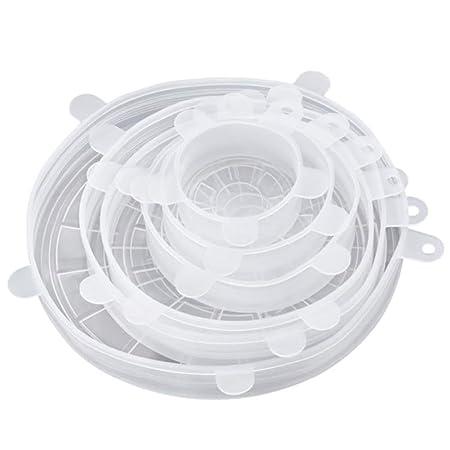 YILANS Tapas de Silicona Estiramiento, 6Pcs Food Bowl Cubre ...