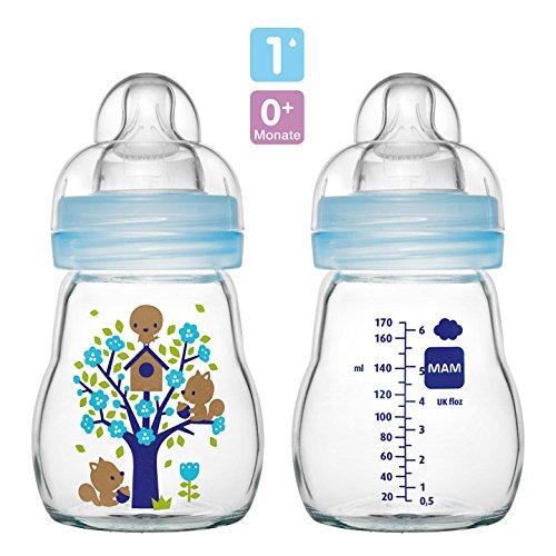 MAM Premium Set mit Glasflaschen Pink Starterset f/ür Neugeborene Starter Flaschenset
