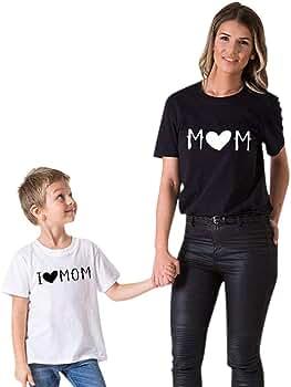 Madre E Hija Camiseta Regalo del Dia de la Madre Verano Blusa ...