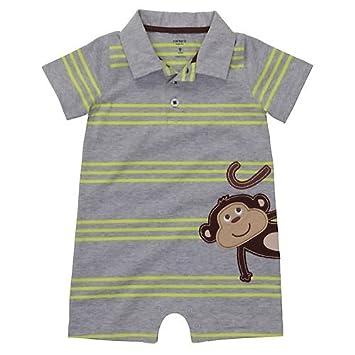 Carters Baby Boys Monkey Polo Romper
