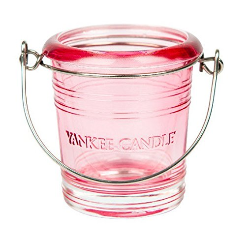 BUCKET SECCHIELLO PORTA CANDELE VOTIVE ROSA TRASPARENTE Yankee Candle 1507937