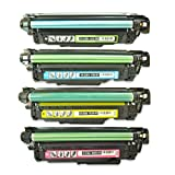 Generic Remanufactured Toner Cartridge Replacement for HP 507A ( Black,Cyan,Magenta,Yellow , 4-Pack )